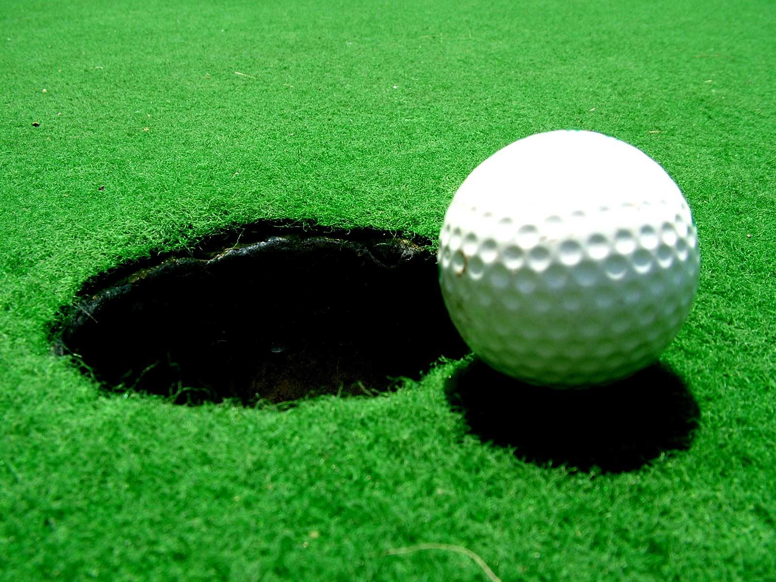 Golf Ball Hole Wallpaper